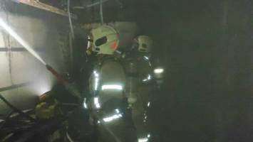 (تصاویر) آتش سوزی در بیمارستان ۷ طبقه یوسف آباد تهران