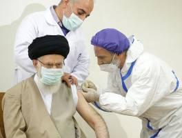 رهبر معظم انقلاب دُز اول واکسن ایرانی «برکت» را دریافت کردند