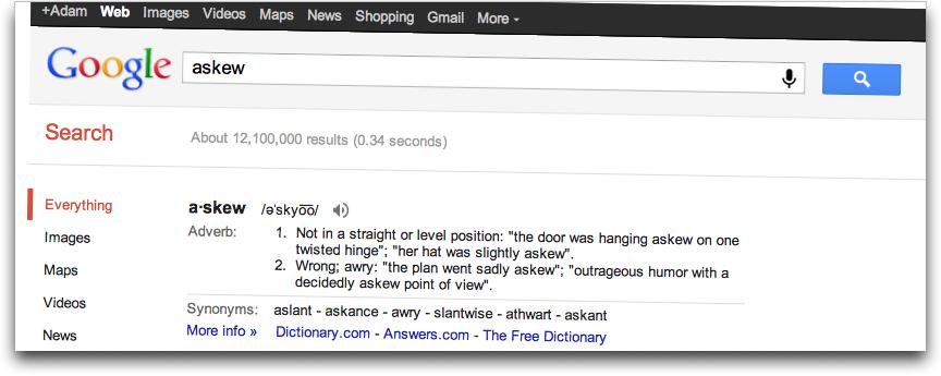 Google-askew
