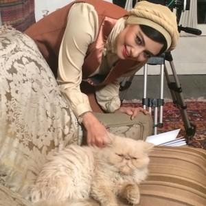 یکتا ناصر و گربه اش