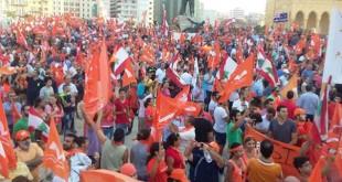 تظاهرات گسترده حامیان میشل عون در مقابل مقر ریاست جمهوری لبنان